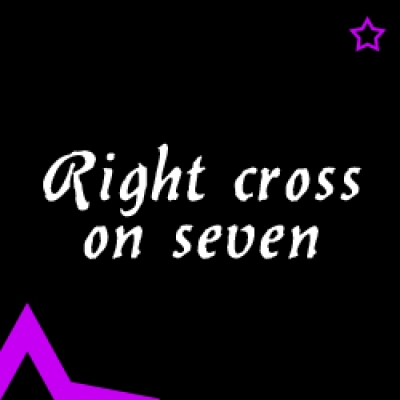 Видео уроци - Right cross on seven